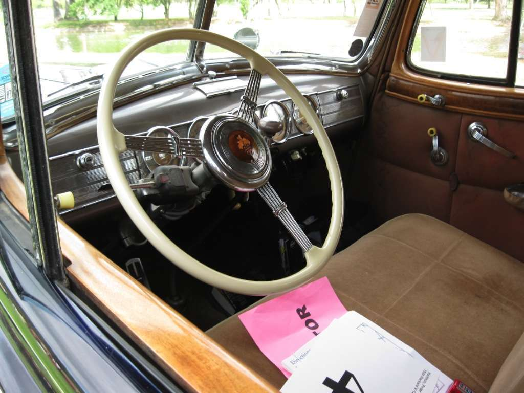 Packard 1938 Twelve Town Car Interior