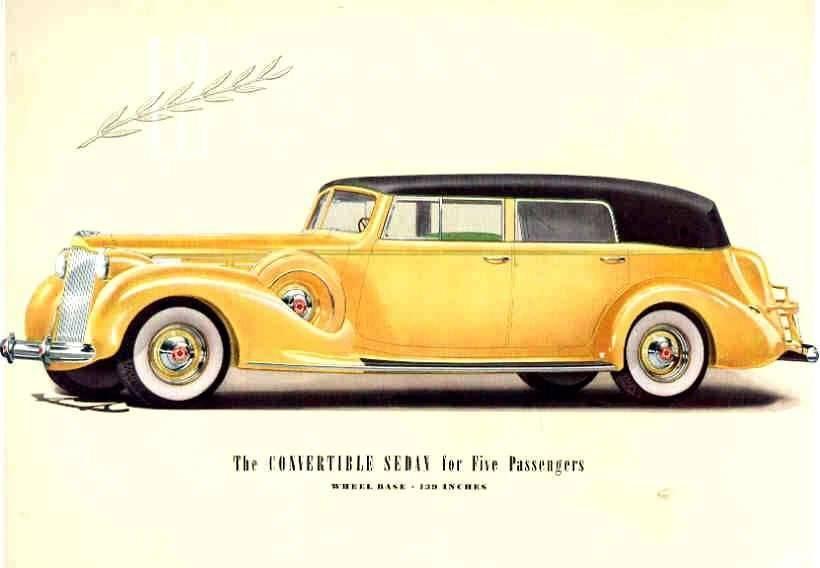 1938 PACKARD V12 CONV SEDAN-FIVE PASS