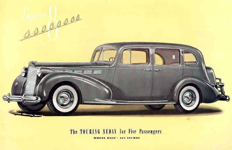 1938 PACKARD SUPER EIGHT TOURING SEDAN-FIVE PASS