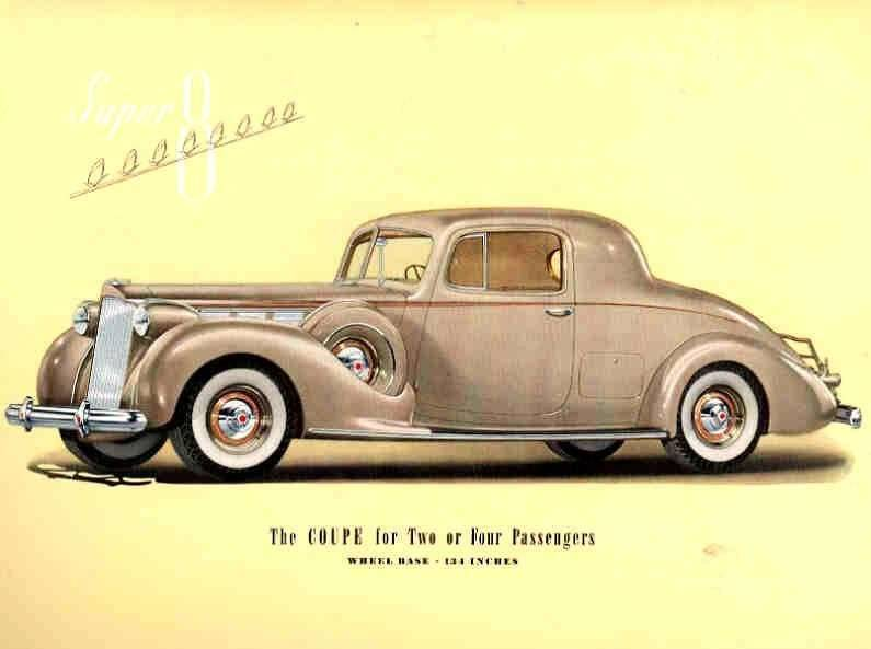 1938 PACKARD SUPER EIGHT COUPE-TWO OR FOUR PASS