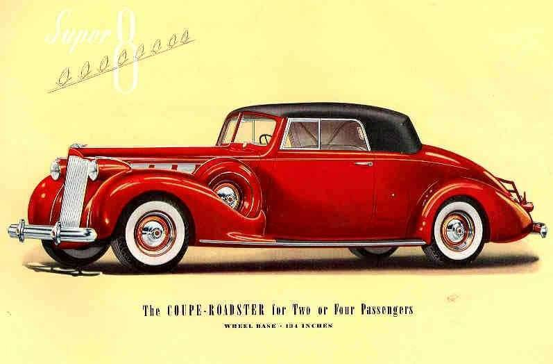 1938 PACKARD SUPER EIGHT COUPE ROADSTER-TWO OR FOUR PASS