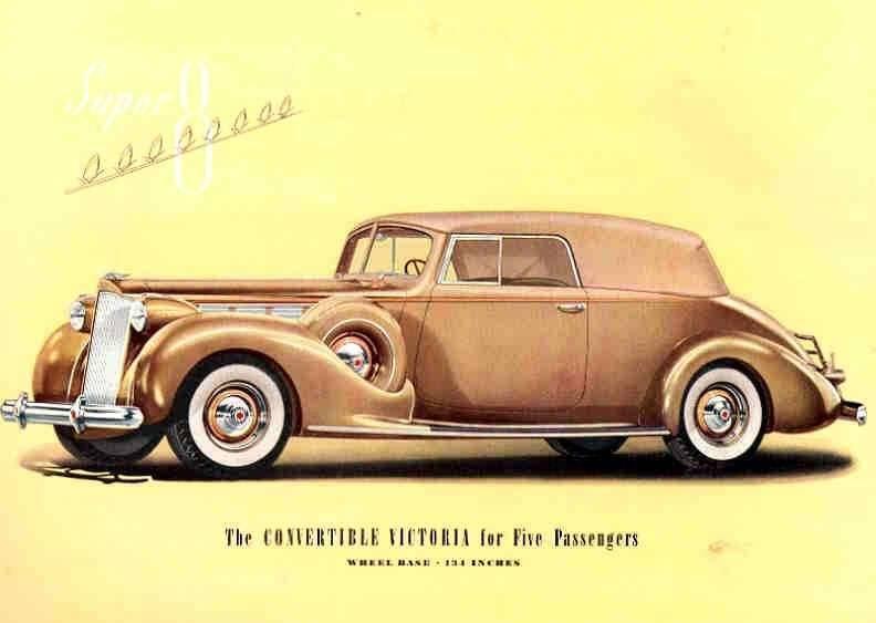 1938 PACKARD SUPER EIGHT CONV VICTORIA-FIVE PASS