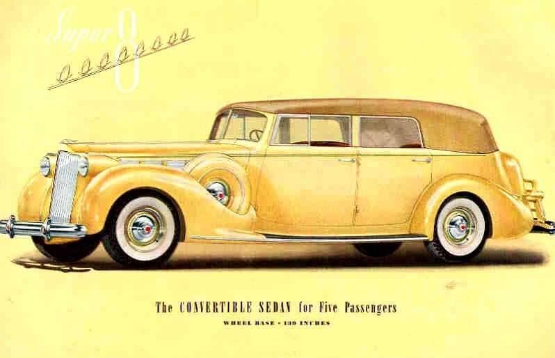 1938 PACKARD SUPER EIGHT CONV SEDAN-FIVE PASS