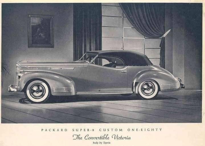 1942 PACKARD SUPER EIGHT CUSTOM 180 CONV VICTORIA-B&W