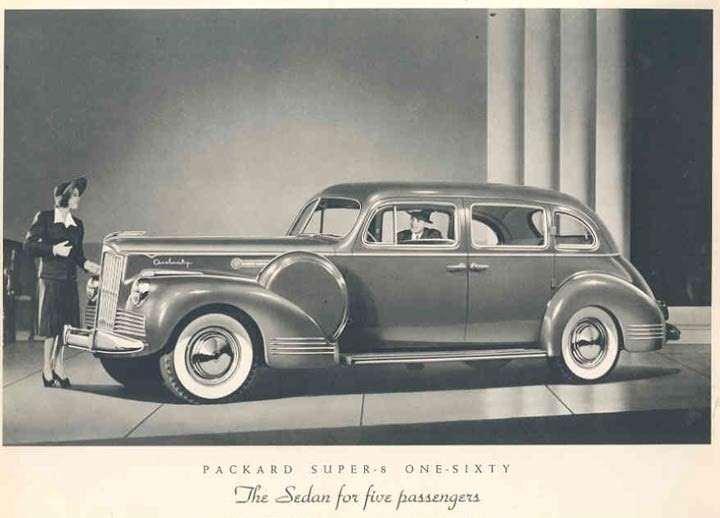 1942 PACKARD SUPER EIGHT 160 SEDAN-B&W