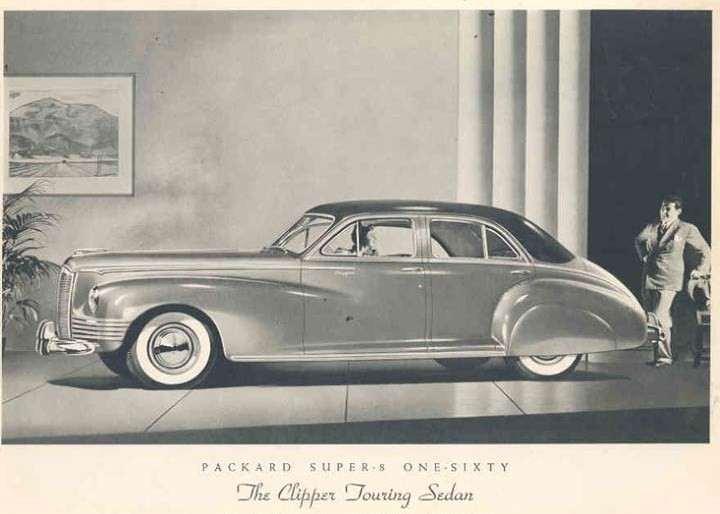 1942 PACKARD CLIPPER SUPER EIGHT 160 TOURING SEDAN-B&W