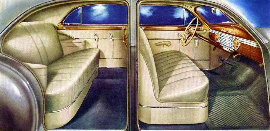 1946 PACKARD CLIPPER DELUXE TOURING SEDAN-INTERIOR