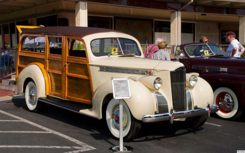 1940 Packard 110 Station Wagon - ivory - fvr