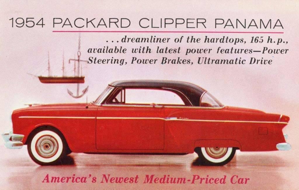 1954 PACKARD CLIPPER ADVERT POSTCARD