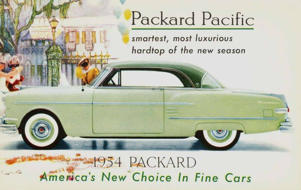 1954 PACKARD PACIFIC ADVERT POSTCARD
