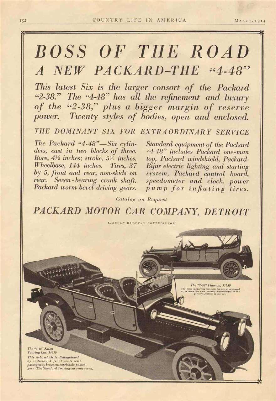 1915 Packard Advert