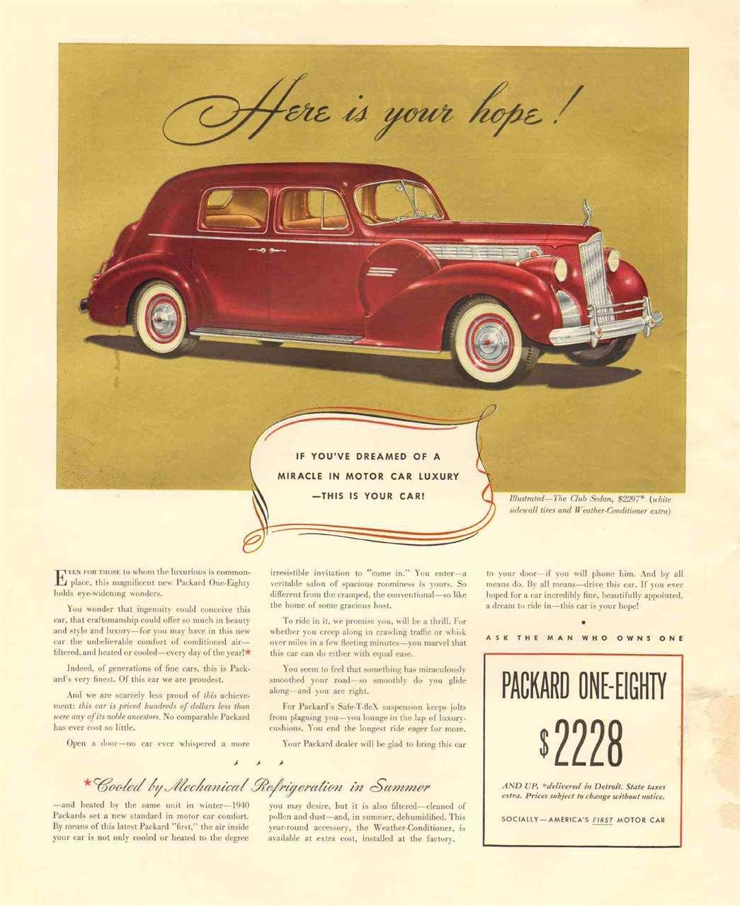 1940 Packard 180 Club Sedan