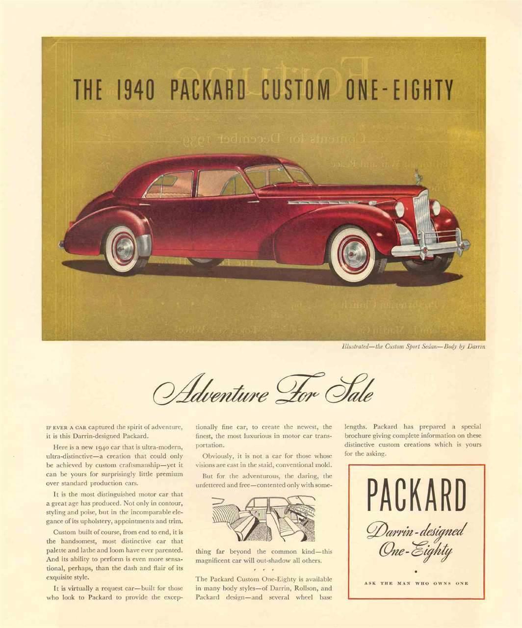 1940 Packard Darrin Custom Sport Sedan