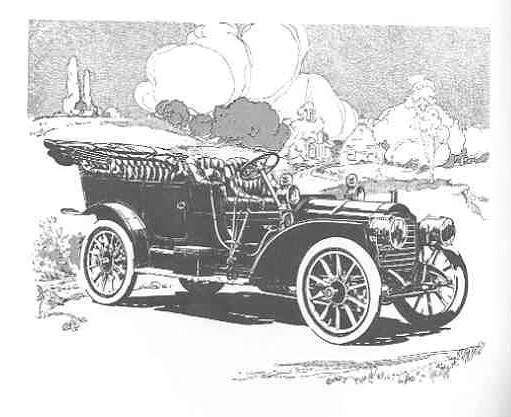 1908 PACKARD MODEL 30 TOURING-B&W