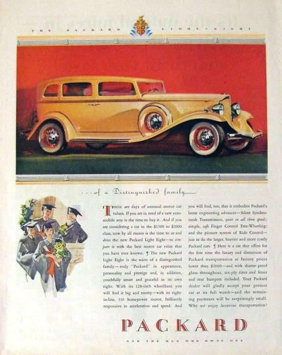 1932 PACKARD ADVERT