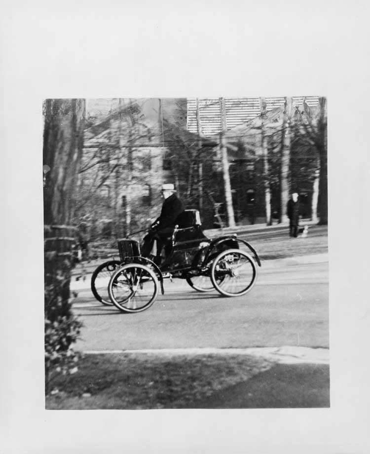 Man driving 1899 Packard Model A