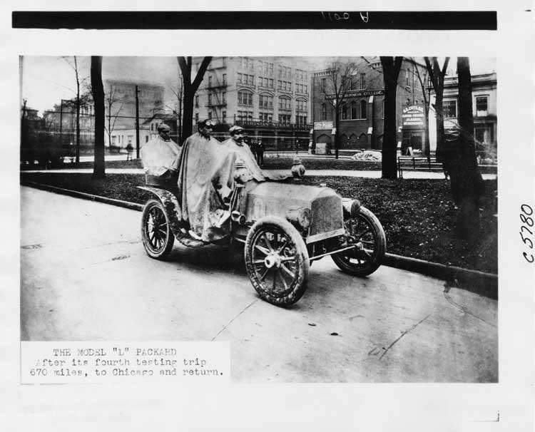 1904 Packard Model L after four testing run