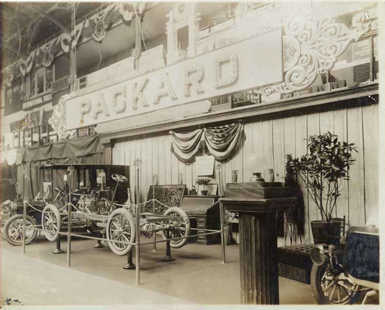 Packard stand at the Fifth Annual National Automobile Show
