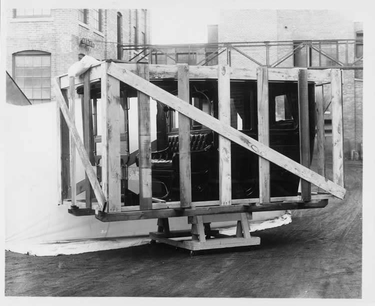 1906 Packard 24 Model S limousine body in crate
