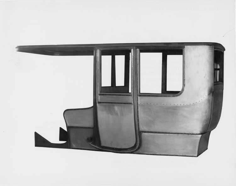 1906 Packard 24 Model S limousine body framework with aluminum covering