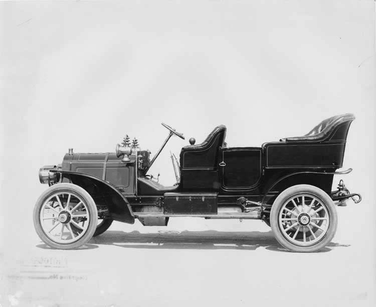 1906 Packard 24 Model S touring car, left side view