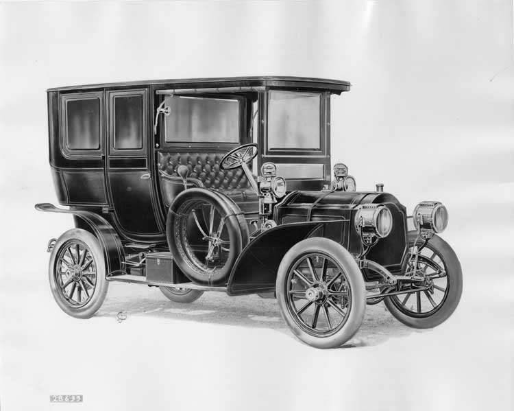 1906 Packard 24 Model S artwork