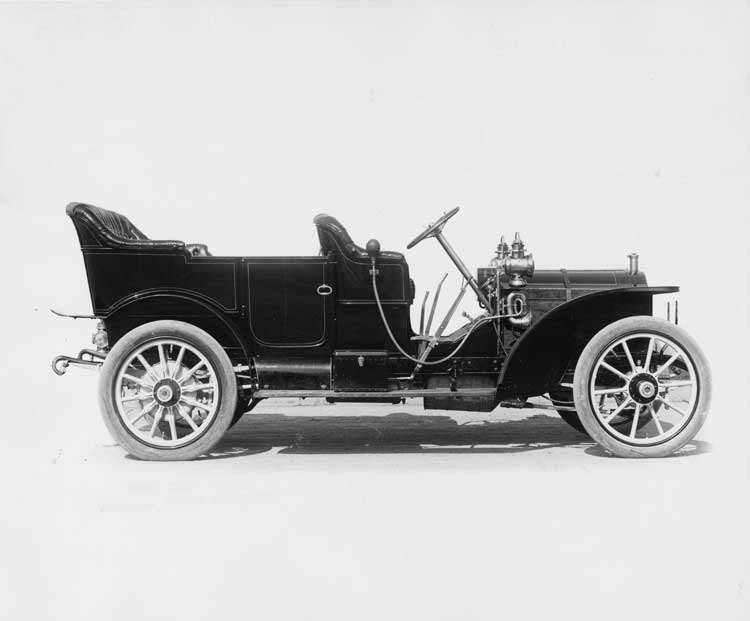 1908 Packard 30 Model UA touring car, right side view