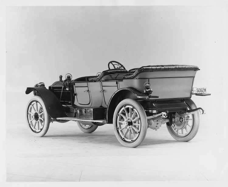 1911 Packard 30 Model UD phaeton, three-quarter rear view, left side