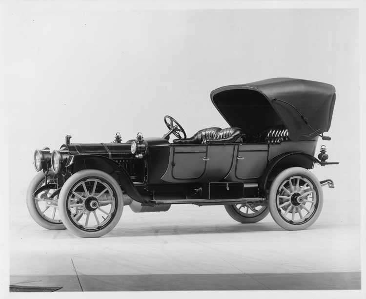 1911 Packard 30 Model UD phaeton, front view, with top raised