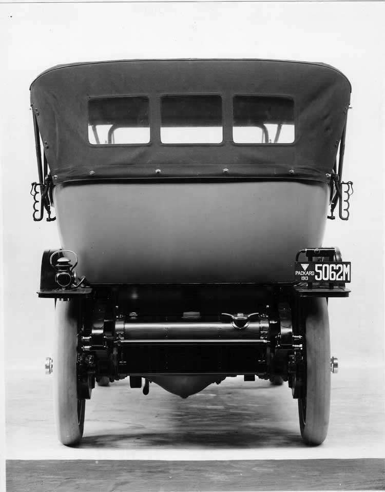 1913 Packard 48 touring car, rear view