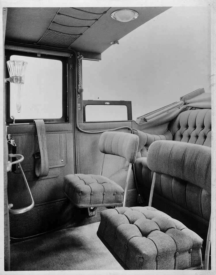 1913 Packard 48 landaulet, interior detail
