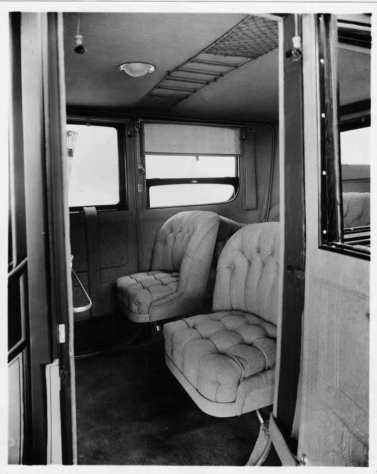 1913 Packard 48 limousine, interior detail