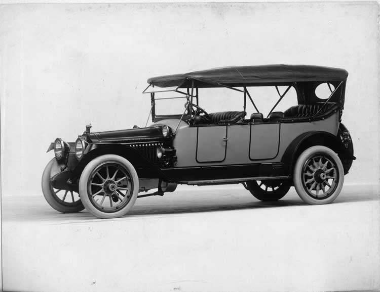 1914 Packard 2-38 special touring car, five-sixths front view, left side