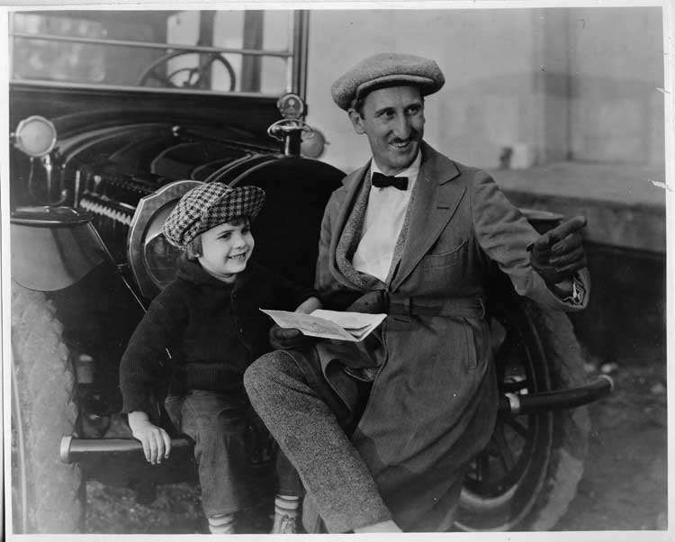 1916 Packard 1-25 salon brougham, pictured with Jackie Coogan