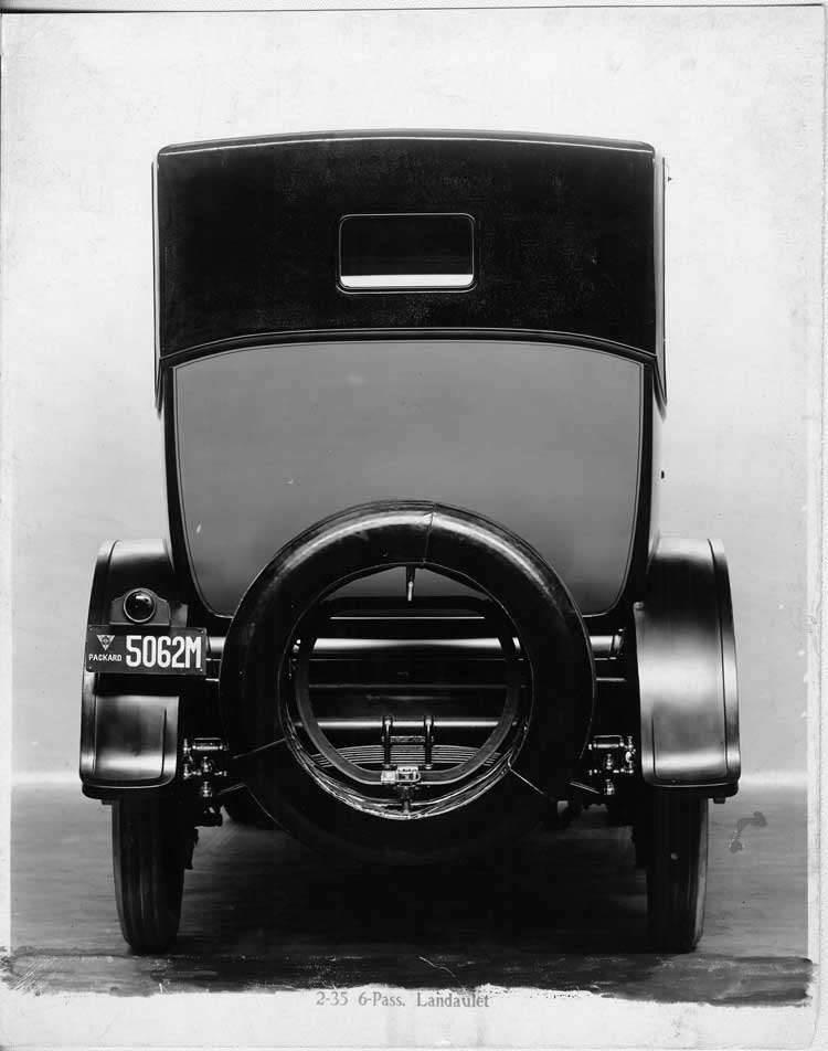 1917 Packard landaulet, rear view
