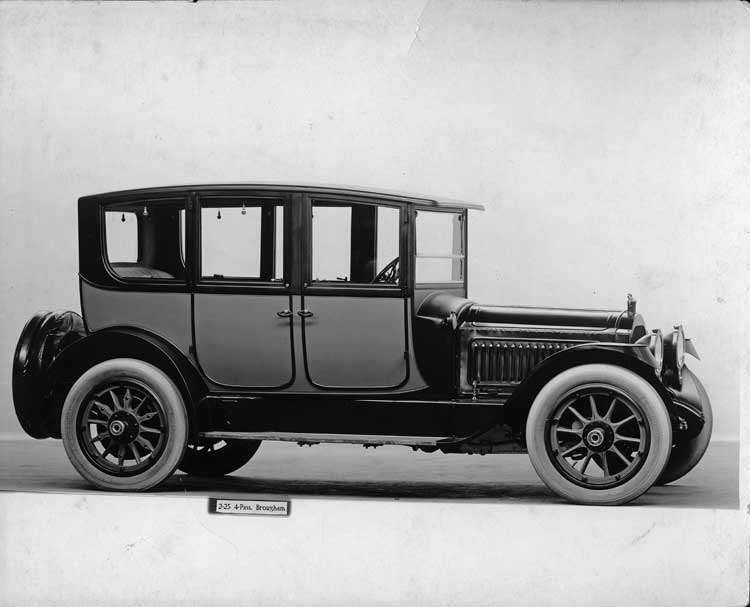 1917 Packard two-toned brougham, seven-eights right front view