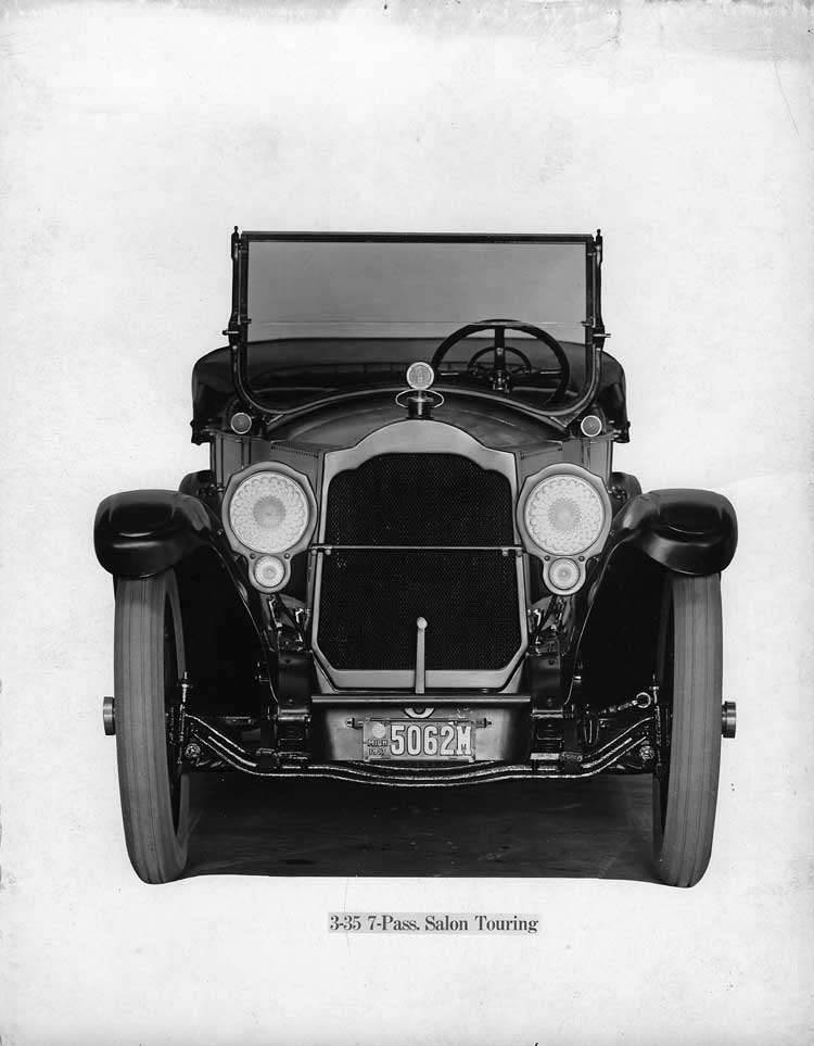 1918-1919 Packard salon touring car, front view, top folded