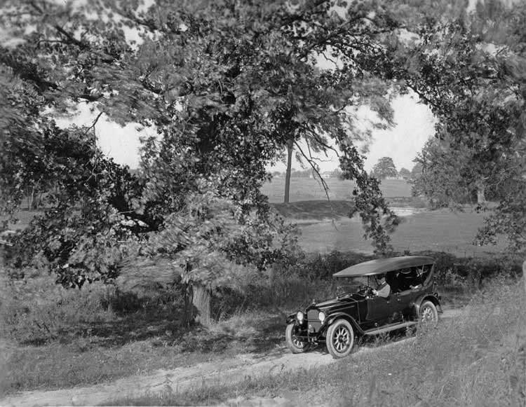 1919 Packard touring car on country road