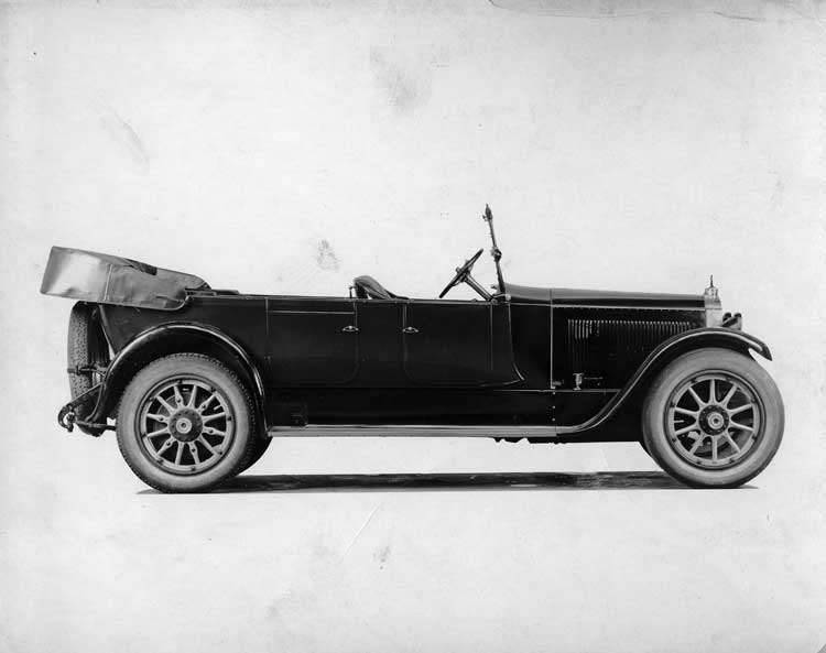 1922 Packard touring car, right side view, top lowered