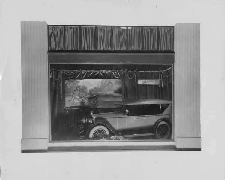 1922-1923 Packard touring car in display window