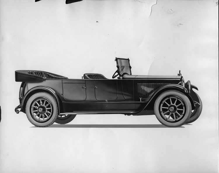 1920-1923 Packard touring car, nine-tenths left front view, top lowered