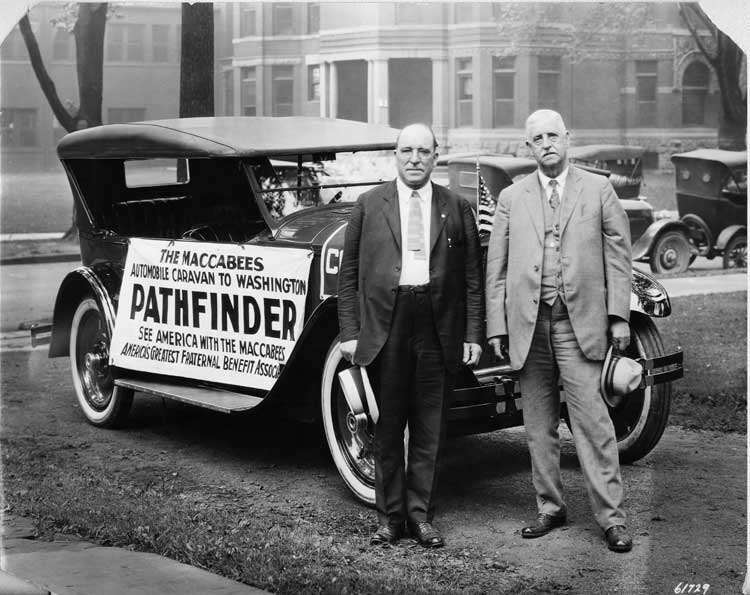 1924 Packard 226 sport model, pathfinder car for the Maccabees caravan to Washington