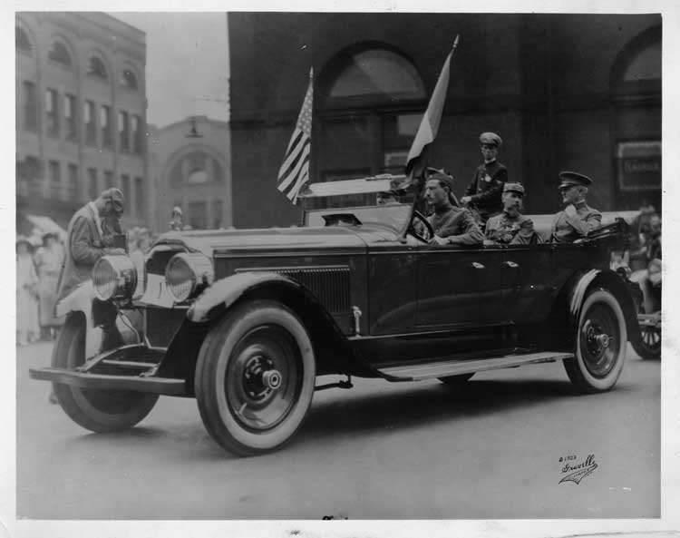 1924 Packard touring car with General John Pershing in Indianapolis parade