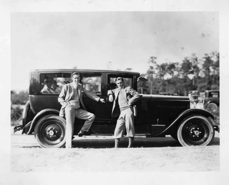 1925-1926 Packard sedan with tennis star Bill Tilden