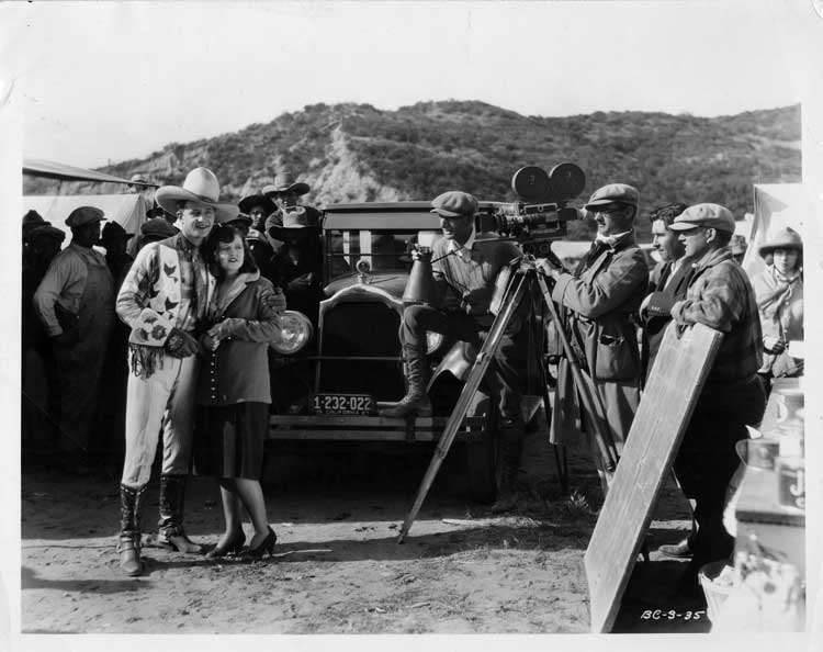 1925-1926 Packard club sedan in scene from 'Gold from Weepah'