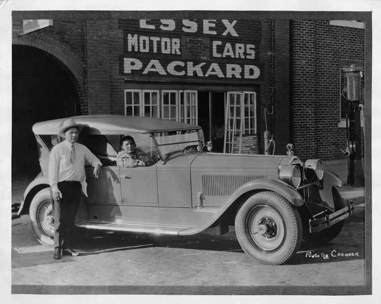 1925-1926 Packard sport model with Native American passenger