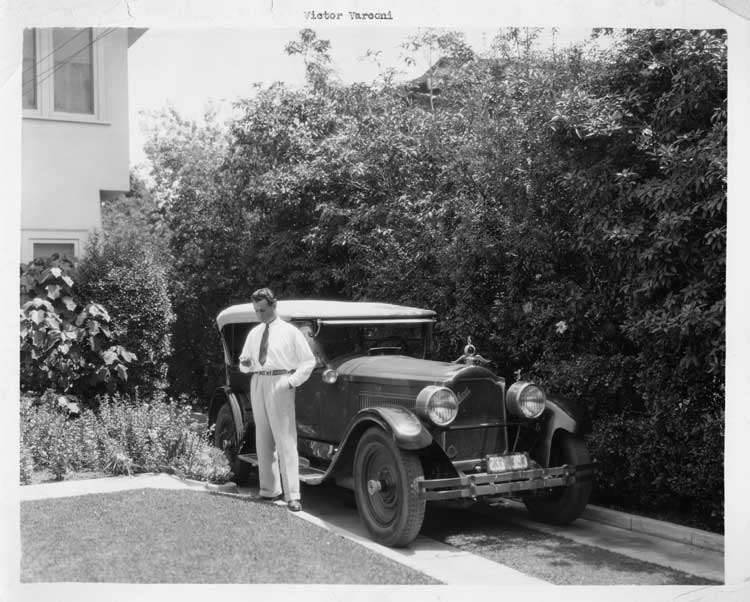 1925-1926 Packard touring car with owner actor Victor Varconi