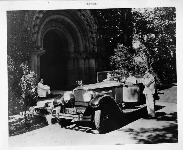 1926 Packard phaeton with Eastman and Princeton students
