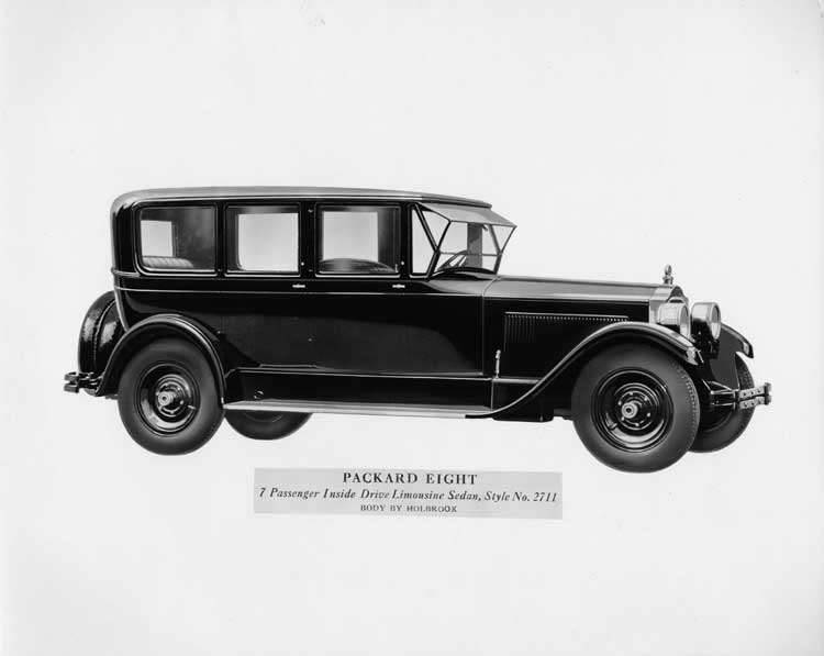 1926 Packard eight, 7-passenger inside drive limousine sedan, body by Holbrook