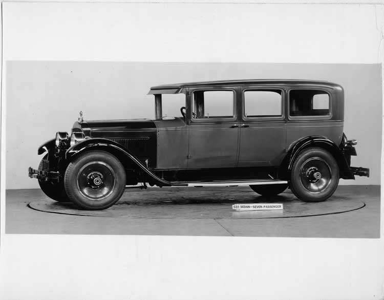 1928 Packard sedan, nine-tenths left front view